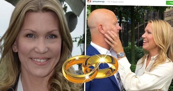 Jenny Alversjö och Patrik Larsson gifter sig på nytt