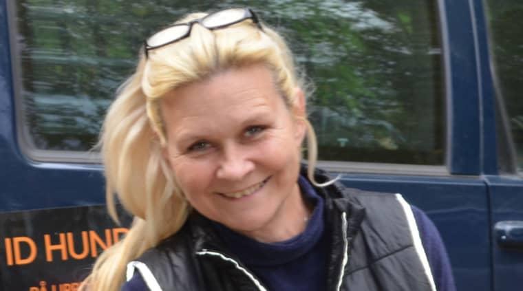 Hundföraren Ingrid Mariën var en av de som engagerade sig i sökandet. Foto: Privat