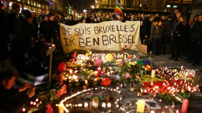 Terrordåden i Bryssel orsakade mer än 30 människors liv under tisdagen. Foto: Carl Court / GETTY IMAGES EUROPE