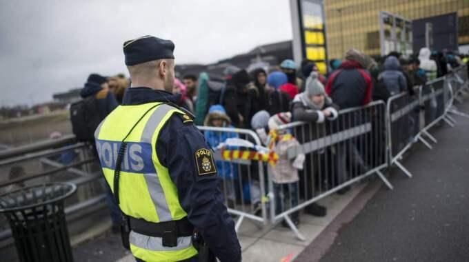 Gränskontroller i Sverige. Foto: Johan Nilsson/Tt