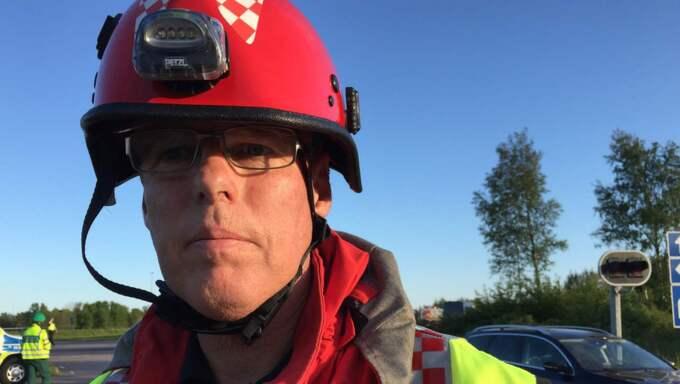 Mats Karlsson, räddningstjänstens insatsledare. Foto: ¨