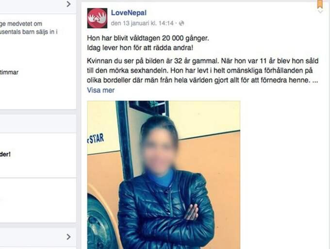 Nu har Sarita, 32, köpts fri från sexhandeln - och kämpar för att hjälpa andra utsatta kvinnor. Foto: Skärmavbild/Facebook