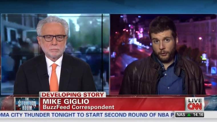 Buzzfeeds utrikesreporter Mike Giglio intervjuas i CNN av Wolf Blitzer om när han var i fara i Ukraina.