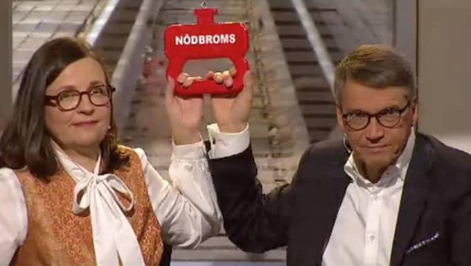 Anna Ekström och Göran Hägglund fick se sig besegrade. Foto: SVT