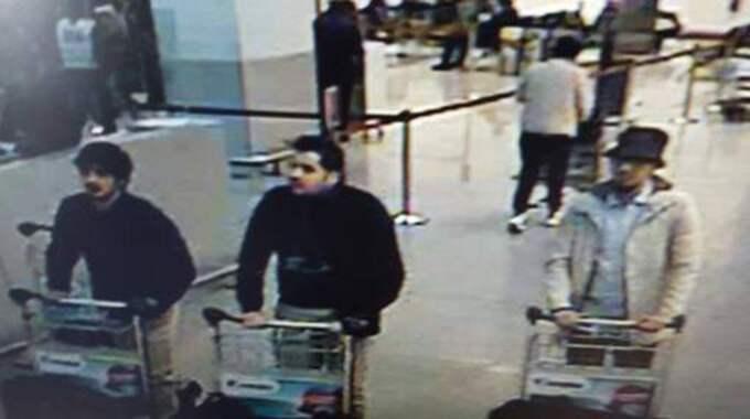 Här är männen som jagas efter terrorattackerna i Bryssel.