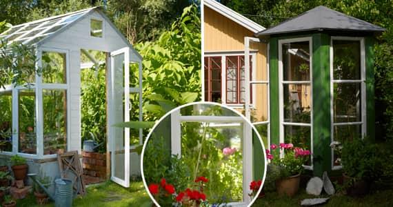 Så bygger du ett växthus av dina gamla fönster Leva& bo