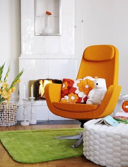 Snyggt läsmys i orange Leva& bo