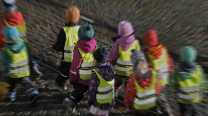 Barn på förskola. Foto: Hasse Holmberg/Tt