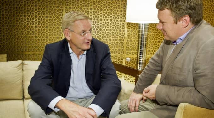 Utrikesminister Carl Bildt inleder i dag sitt officiella besök i Indien - och Expressen.se är med som enda svenska media. Foto: Christian Örnberg