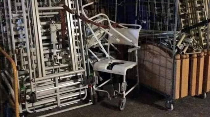 56 sjukhussängar och massor av utrustning har samlats in. Foto: Privat