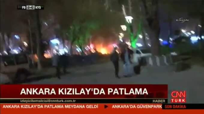 Explosionen skedde i en park. Foto: CNN Türk