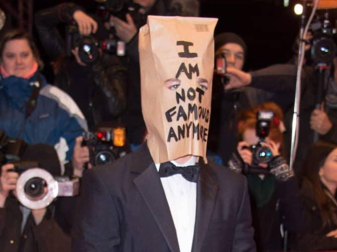 """Filmstjärnan valde en något udda utstyrsel i samband med premiären av Lars von Triers """"Nymphomaniac"""" i februari i år. Foto: Fame Flynet France"""