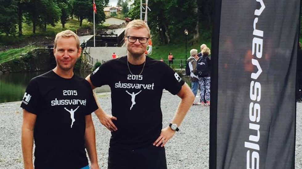 Arrangörerna av Slussvarvet i Trollhättan, Mattias Hilmersson (till höger) och Anders Hansson.
