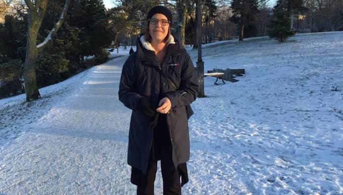 Ulrika Lövdal, 44, frukostvärdinna på hotell, Göteborg – Snö är kul, det ska det vara i januari. Det kan ligga ett tag. Foto: Josefine Olausson
