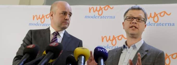 Fredrik Reinfeldt och Kent Persson. Foto: Robban Andersson
