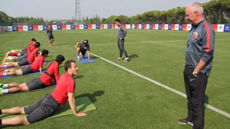 Efter att Sven Göran Eriksson tog över som tränare trivs Tobias och resten av familjen bättre i Kina. Foto: Karin Olander / Tt