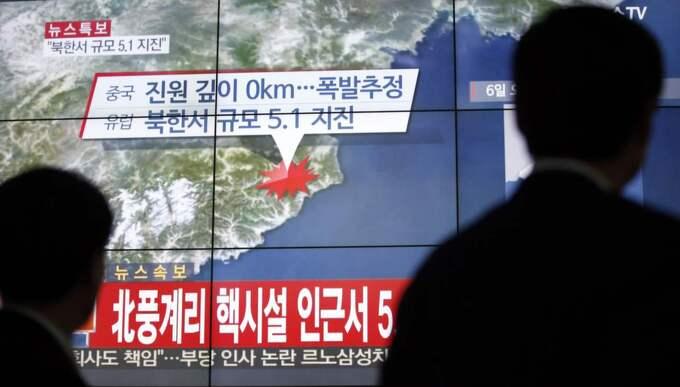 Nordkorea hotar med kärnvapenkrig. Foto: Lee Jin-Man/AP