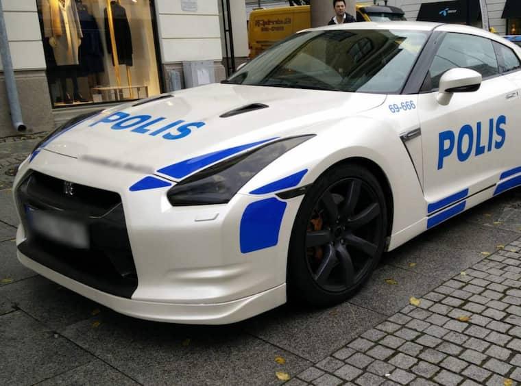 Polisens nya fartmonster? Nej, en falsk polisbil som använts av Bandidosledaren Mehdi Seyyed och andra straffade personer i Göteborg.