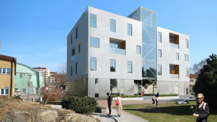 Huset rymmer totalt 29 lägenheter, 23 av dem är avsedda från studenter.