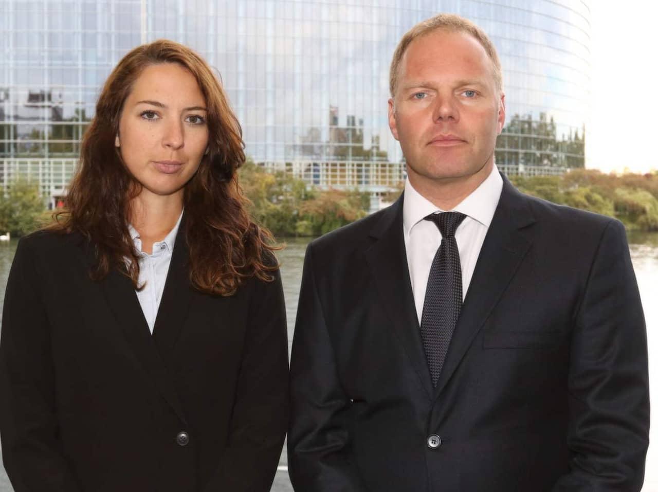 Hanna jakobson och Kristofer Sandberg