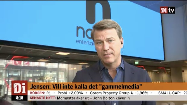 Jensen VD för nya Nordic Entertainment Group - se hela intervjun