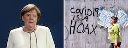 Angela Merkels kritik  mot virusförnekarna