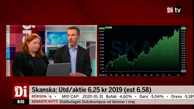 """Ekman om Skanska: """"Det är som väntat att de alltid har lövtunna marginaler"""""""