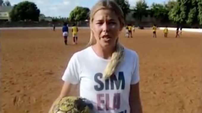 """""""Tjejfotboll fanns i princip inte alls i Moçambique. Det fanns inte heller något system som det finns i Sverige med exempelvis seriespel, utan vi var med och byggde upp strukturen helt och hållet"""", säger Cecilia Andrén-Nyström. Foto: Privat"""