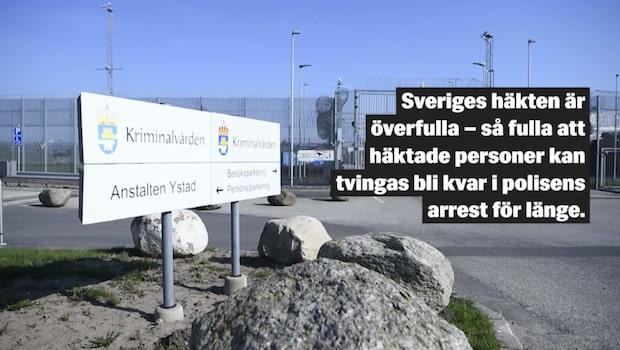"""Sveriges häkten överfulla: """"Är riktigt bekymrad"""""""