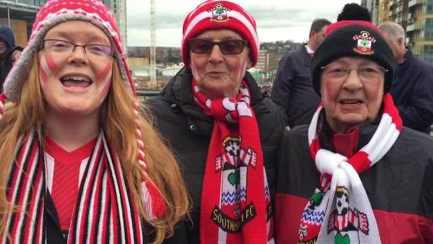 Stämningen utanför Wembley inför finalen