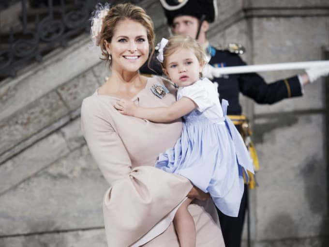 Prinsessan Leonore på prins Oscars dop. Foto: Olle Sporrong