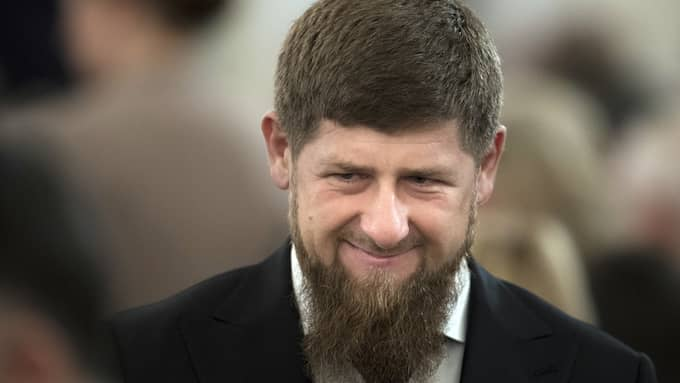 Tjetjenske presidenten Ramzan Kadyrov. Foto: PAVEL GOLOVKIN / AP TT NYHETSBYRÅN
