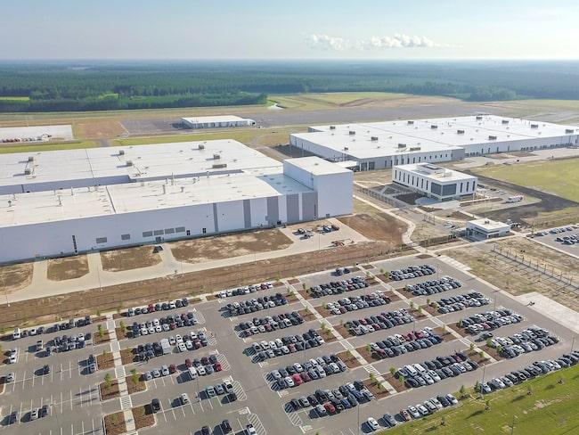Volvos nyinvigda fabrik i Charleston.