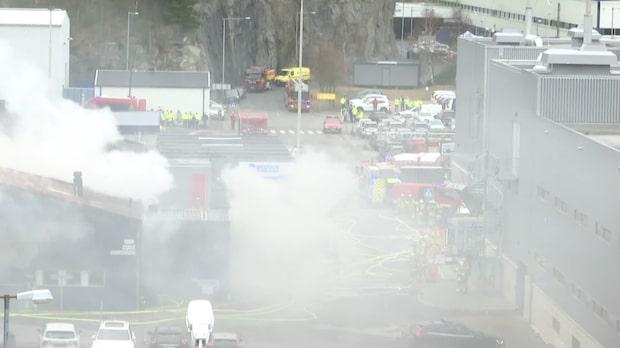Stor brand på Volvo i Göteborg