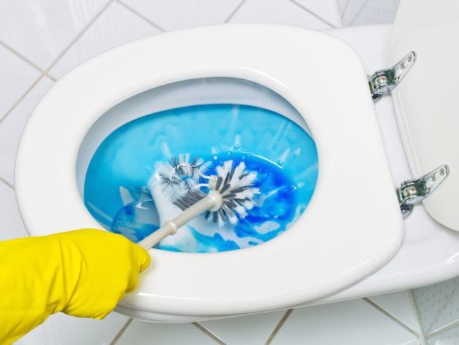 Ett misstag många gör är att rengöra toaletten för sällan. Rengör toaletten minst en gång i veckan.