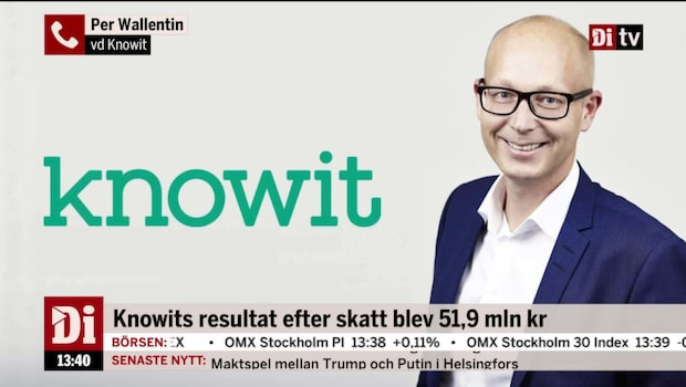 """Knowits vd: """"Ser inga problem med konjunkturen framåt"""""""