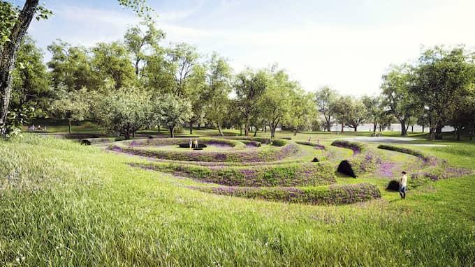 """Vinnande minnesplats för flodvågskatastrofen, """"Gravitational ripples"""". Foto: LEA PORSAGER"""