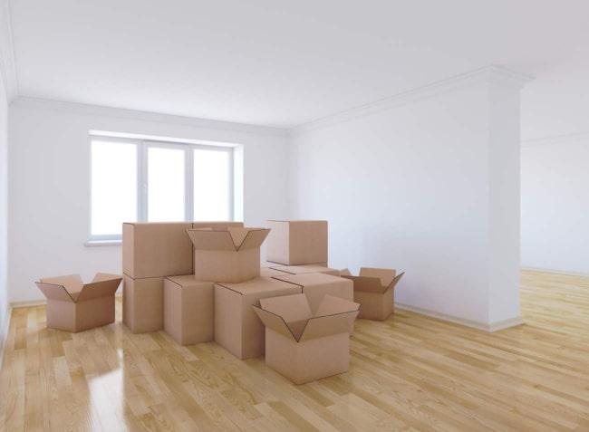 Det är nog inte just den här synen vi tycker om med att flytta, utan snarare att komma i ordning.