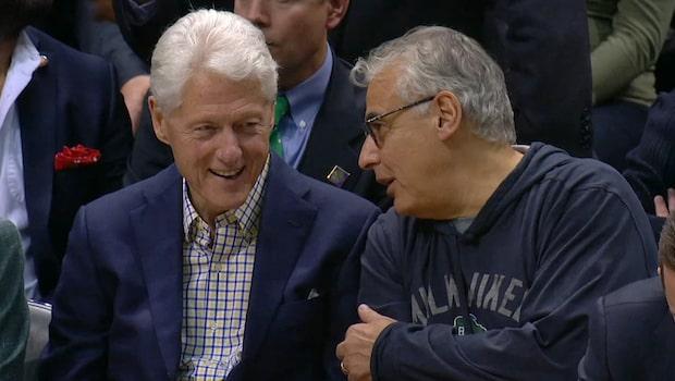 Bill Clinton såg Bucks fixa en match 7