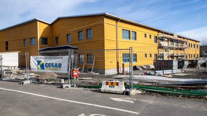 Klassrum ska inte finnas på Kvibergsskolan, som står klar om ett år. Eleverna ska i stället arbeta med sina egna surfplattor i öppna arbetsytor. Foto: HENRIK JANSSON