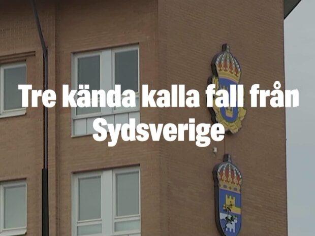 Tre kända kalla fall från Sydsverige
