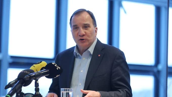 Stefan Löfven ställer sig frågande till hur danska Socialdemokratiets nya lagförslag skulle fungera i praktiken. Foto: SÖREN ANDERSSON/TT / TT NYHETSBYRÅN