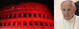 Colosseum färgades rött för att hedra dödsdömde Asia