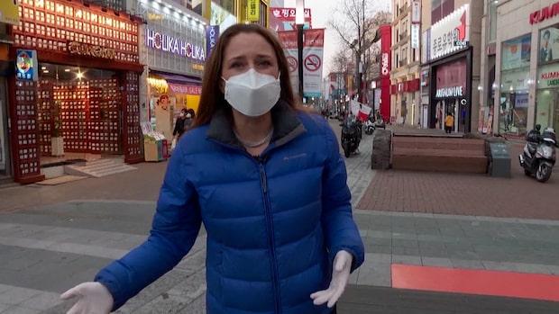 Corona: Antalet smittade i Sydkorea ökar dramatiskt