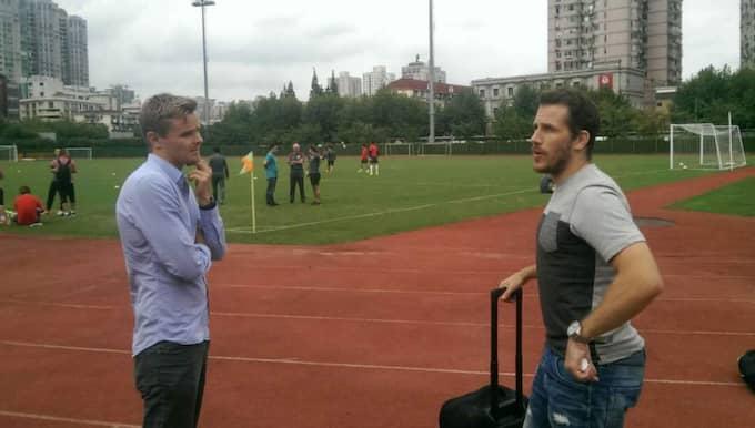 GT:s Andreas Andersson träffar Tobias Hysén i Kina. Foto: Andreas Andersson