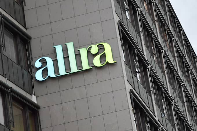 Allras huvudkontor i centrala Stockholm. I tisdags slog ekobrottsmyndigheten till med razzia mot kontoret. Datorer, mobiltelefoner och dokument togs i beslag. Foto: JONAS EKSTRÖMER/TT / TT NYHETSBYRÅN