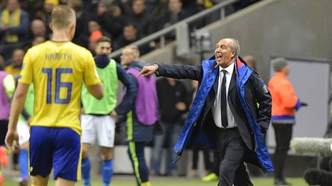 Italiens förbundskapten Giampiero Ventura avgår efter 0-0 mot Sverige. Foto: ANDERS WIKLUND/TT / TT NYHETSBYRÅN