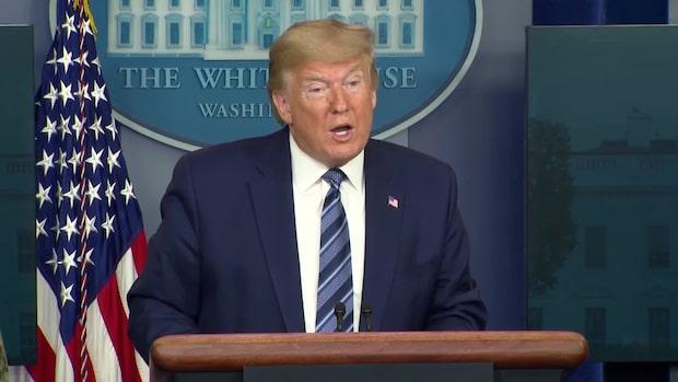 """Trump: """"Vi ser ljus i slutet av tunneln"""""""