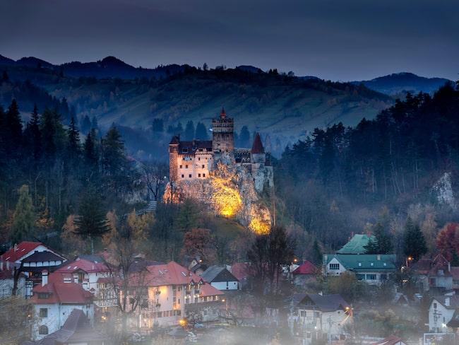Slottet Bran, forna hemvist åt Furste Vlad III Dracula.