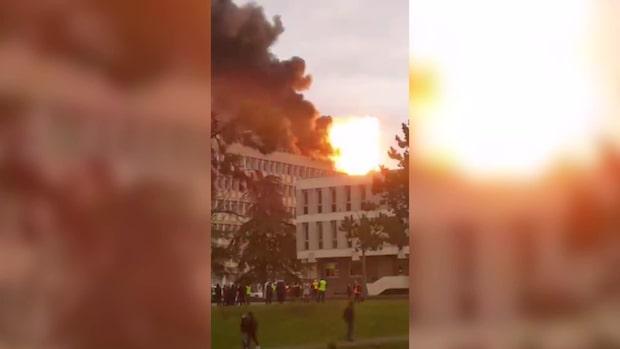 Kraftig explosion vid universitet i Lyon